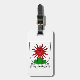 Escudo de la familia de Sonnenberg Etiquetas Para Equipaje