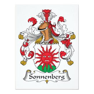 Escudo de la familia de Sonnenberg Invitación 16,5 X 22,2 Cm
