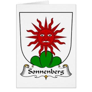 Escudo de la familia de Sonnenberg Tarjeta De Felicitación