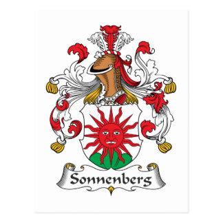 Escudo de la familia de Sonnenberg Tarjetas Postales