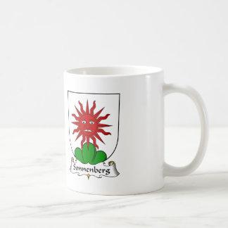 Escudo de la familia de Sonnenberg Taza De Café