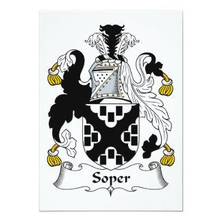 Escudo de la familia de Soper Invitación 12,7 X 17,8 Cm