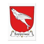Escudo de la familia de Soppensee Impresión En Lienzo Estirada