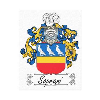 Escudo de la familia de Soprani Lienzo Envuelto Para Galerias