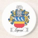 Escudo de la familia de Soprani Posavasos Para Bebidas