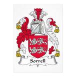 Escudo de la familia de Sorrell Comunicados Personales