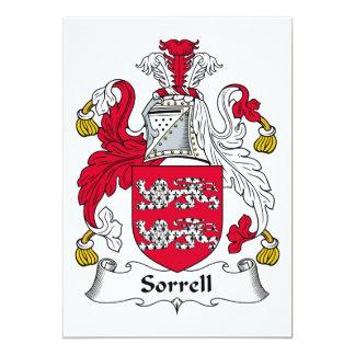 Escudo de la familia de Sorrell Invitación 12,7 X 17,8 Cm