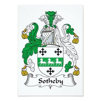 Escudo de la familia de Sotheby Invitación 12,7 X 17,8 Cm
