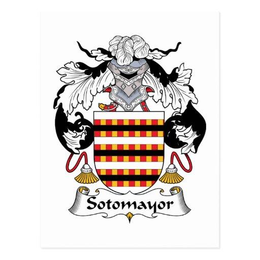 Escudo de la familia de Sotomayor Tarjetas Postales