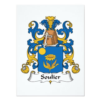 """Escudo de la familia de Soulier Invitación 6.5"""" X 8.75"""""""