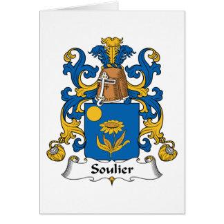 Escudo de la familia de Soulier Tarjeta De Felicitación