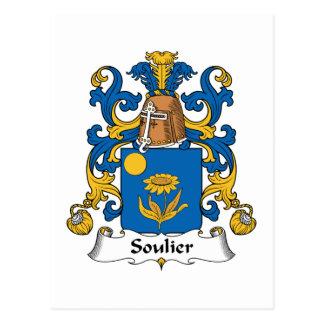 Escudo de la familia de Soulier Tarjeta Postal