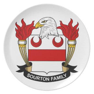 Escudo de la familia de Sourton Plato De Cena