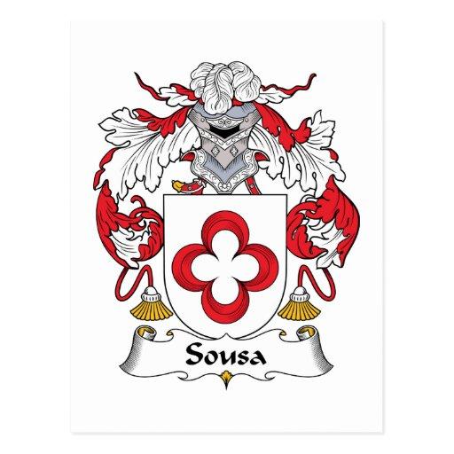 Escudo de la familia de Sousa Postal