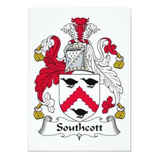 Escudo de la familia de Southcott Invitación 12,7 X 17,8 Cm