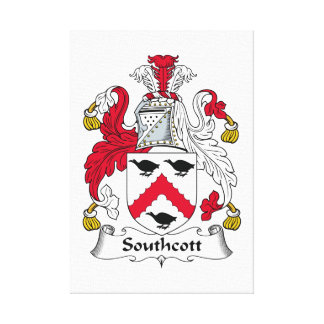 Escudo de la familia de Southcott Lienzo Envuelto Para Galerías