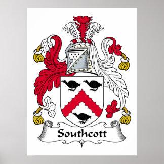 Escudo de la familia de Southcott Póster