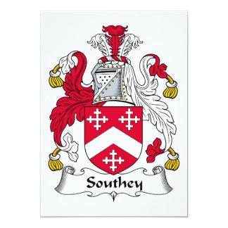 Escudo de la familia de Southey Invitación 12,7 X 17,8 Cm