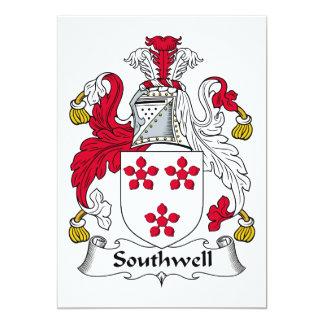 Escudo de la familia de Southwell Invitación 12,7 X 17,8 Cm