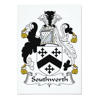 Escudo de la familia de Southworth Invitación 12,7 X 17,8 Cm