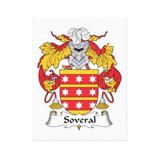 Escudo de la familia de Soveral Impresión En Lona Estirada