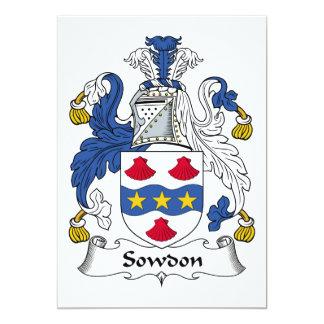 Escudo de la familia de Sowdon Invitación 12,7 X 17,8 Cm