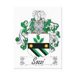 Escudo de la familia de Sozzi Impresión De Lienzo