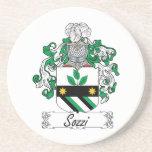 Escudo de la familia de Sozzi Posavasos Personalizados