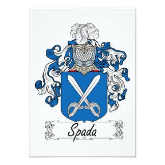 """Escudo de la familia de Spada Invitación 5"""" X 7"""""""
