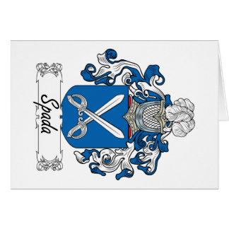 Escudo de la familia de Spada Tarjeta De Felicitación