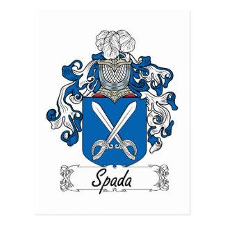 Escudo de la familia de Spada Postal