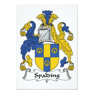 Escudo de la familia de Spalding Invitación 12,7 X 17,8 Cm