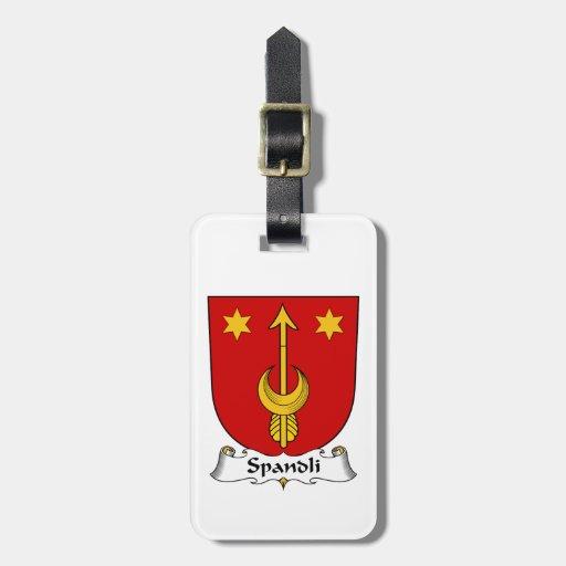 Escudo de la familia de Spandli Etiqueta De Maleta