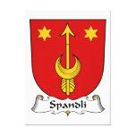 Escudo de la familia de Spandli Impresion De Lienzo