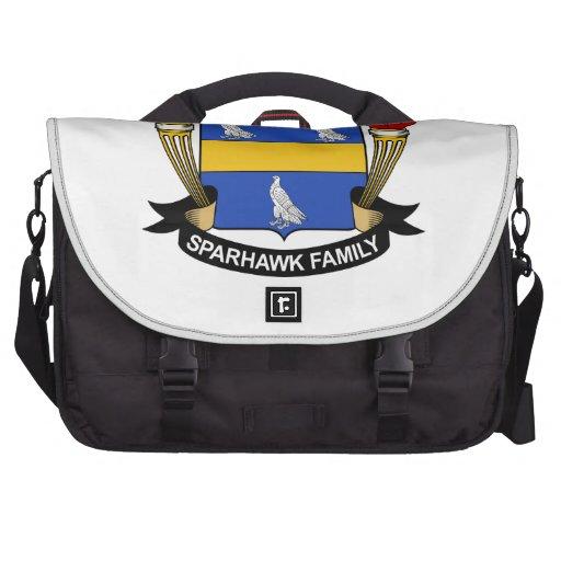 Escudo de la familia de Sparhawk Bolsas De Portatil