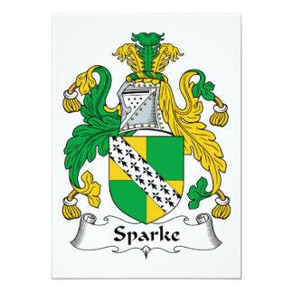 Escudo de la familia de Sparke Invitación 12,7 X 17,8 Cm