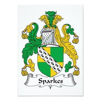 Escudo de la familia de Sparkes Invitación 12,7 X 17,8 Cm