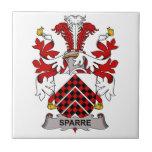 Escudo de la familia de Sparre Azulejo