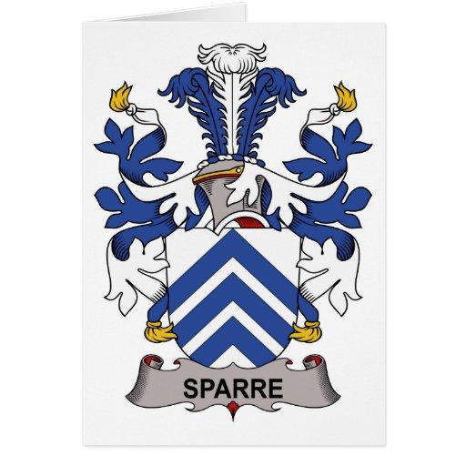 Escudo de la familia de Sparre Felicitacion