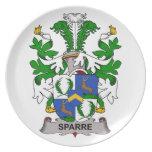 Escudo de la familia de Sparre Plato De Comida