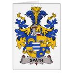 Escudo de la familia de Spath Tarjeta