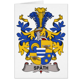 Escudo de la familia de Spath Tarjeta De Felicitación