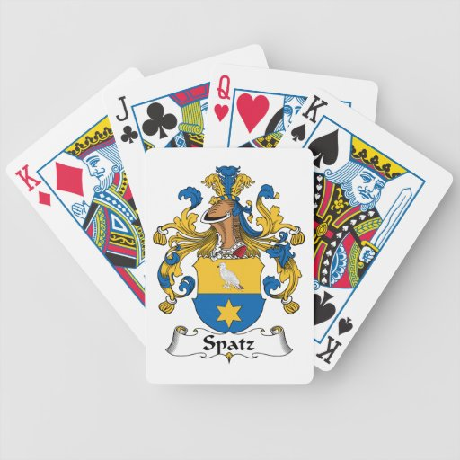 Escudo de la familia de Spatz Baraja Cartas De Poker