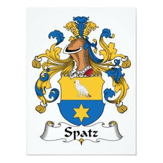 Escudo de la familia de Spatz Invitación 16,5 X 22,2 Cm