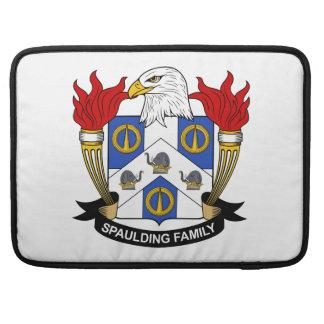 Escudo de la familia de Spaulding Fundas Para Macbooks