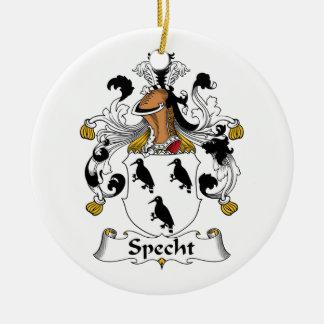 Escudo de la familia de Specht Adorno Redondo De Cerámica