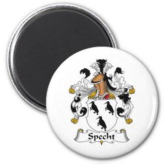 Escudo de la familia de Specht Imán Redondo 5 Cm