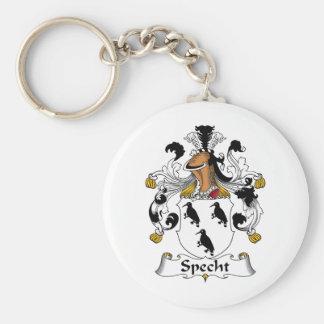 Escudo de la familia de Specht Llavero Redondo Tipo Pin