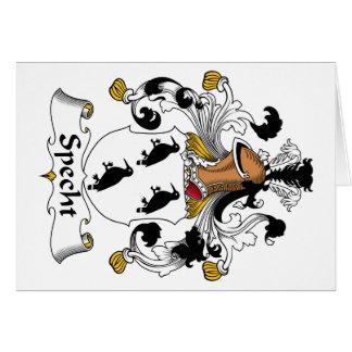 Escudo de la familia de Specht Tarjeta De Felicitación