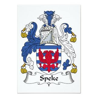 Escudo de la familia de Speke Invitación 12,7 X 17,8 Cm